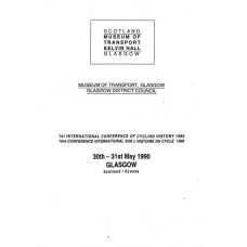 Proceedings of the 1st International Cycle History Conference 1990 (Glasgow)