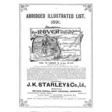 Rover Catalogue 1891